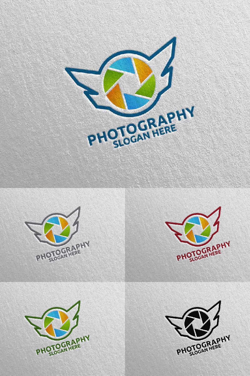 Fly Wing Camera Photography 94 Logo Template