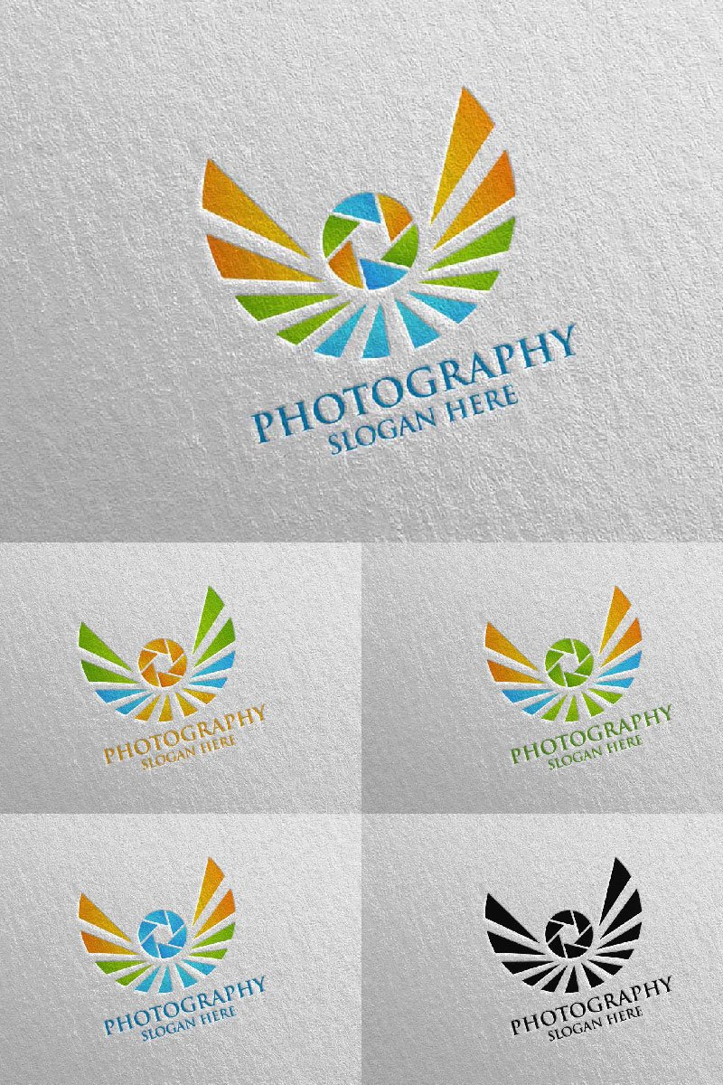 Fly Wing Camera Photography Logo Template