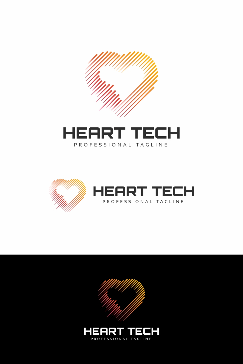 """Heart Technology"" Logo template №94681"