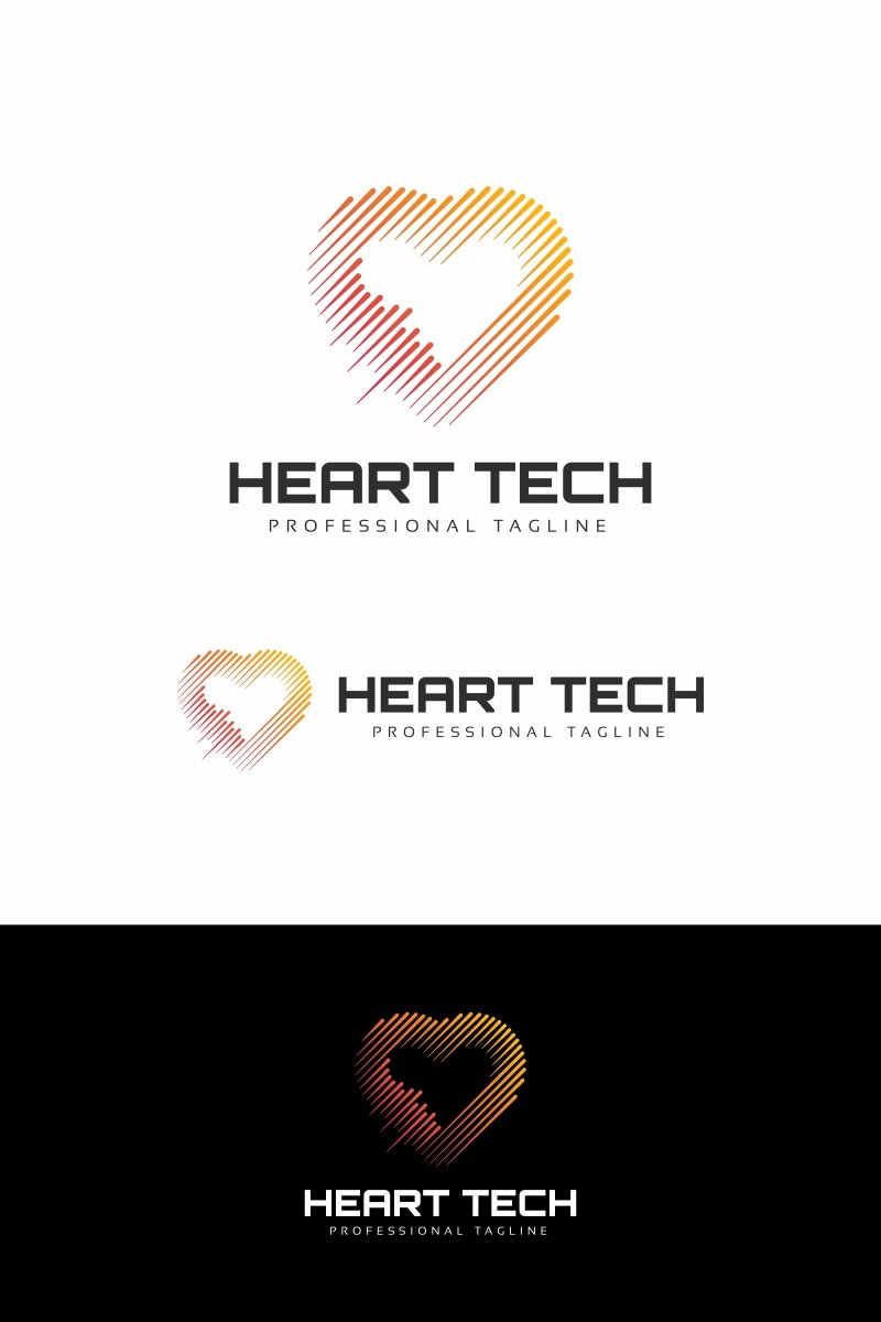 Heart Technology Logo Template