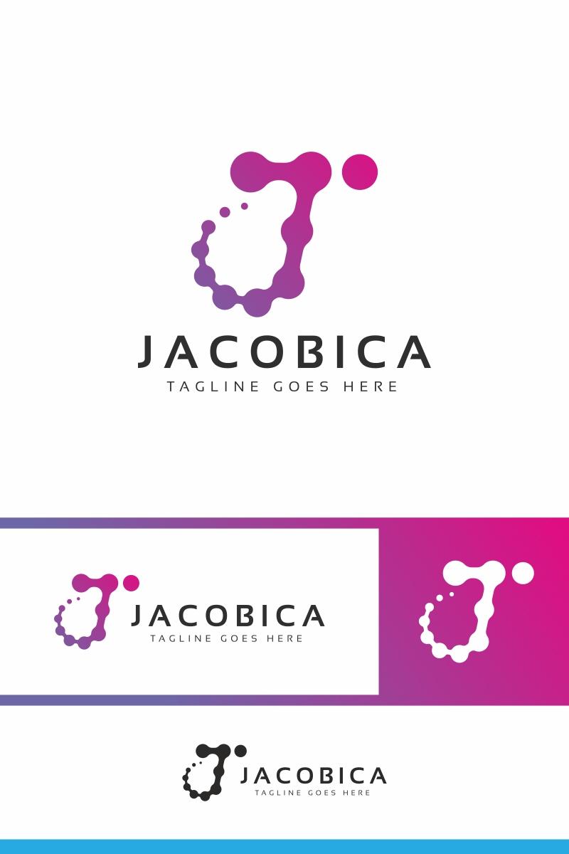Jacobica J Letter Unika logotyp mall #94688