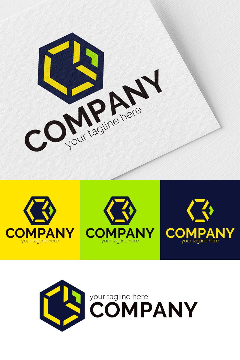 "Šablona logotypu ""Hexagon, Cube"" #94643"