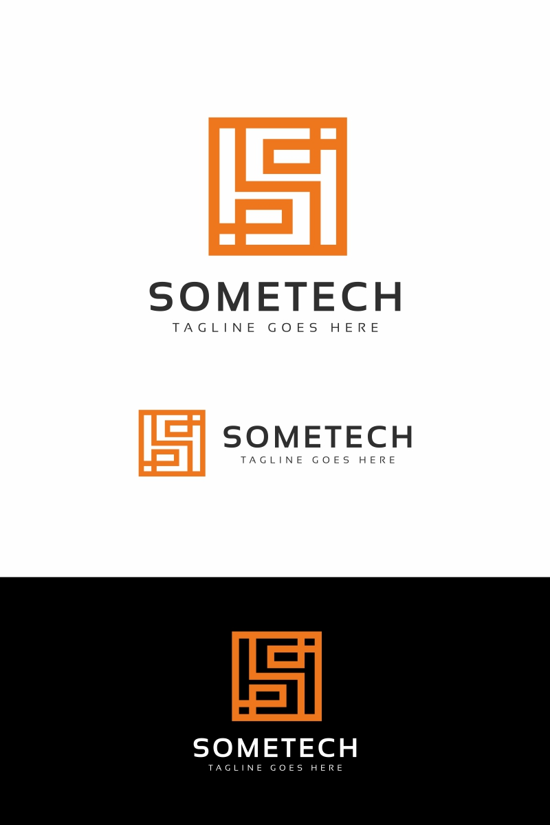Sometech - S Letter Template de Logotipo №94687