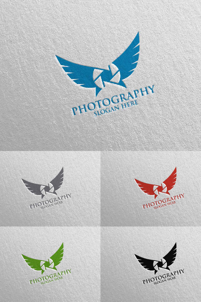 "Template di Loghi #94684 ""Fly Wing Camera Photography 93"""