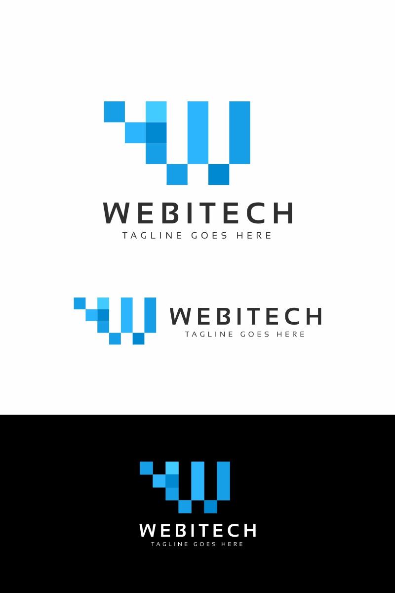Webitech W Letter Unika logotyp mall #94682