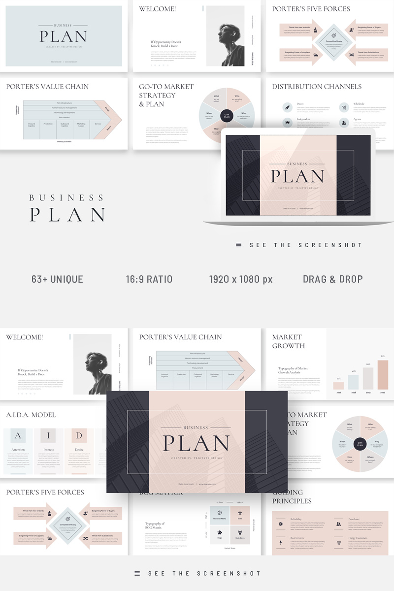 Business Plan Presentation Template para Keynote №94782