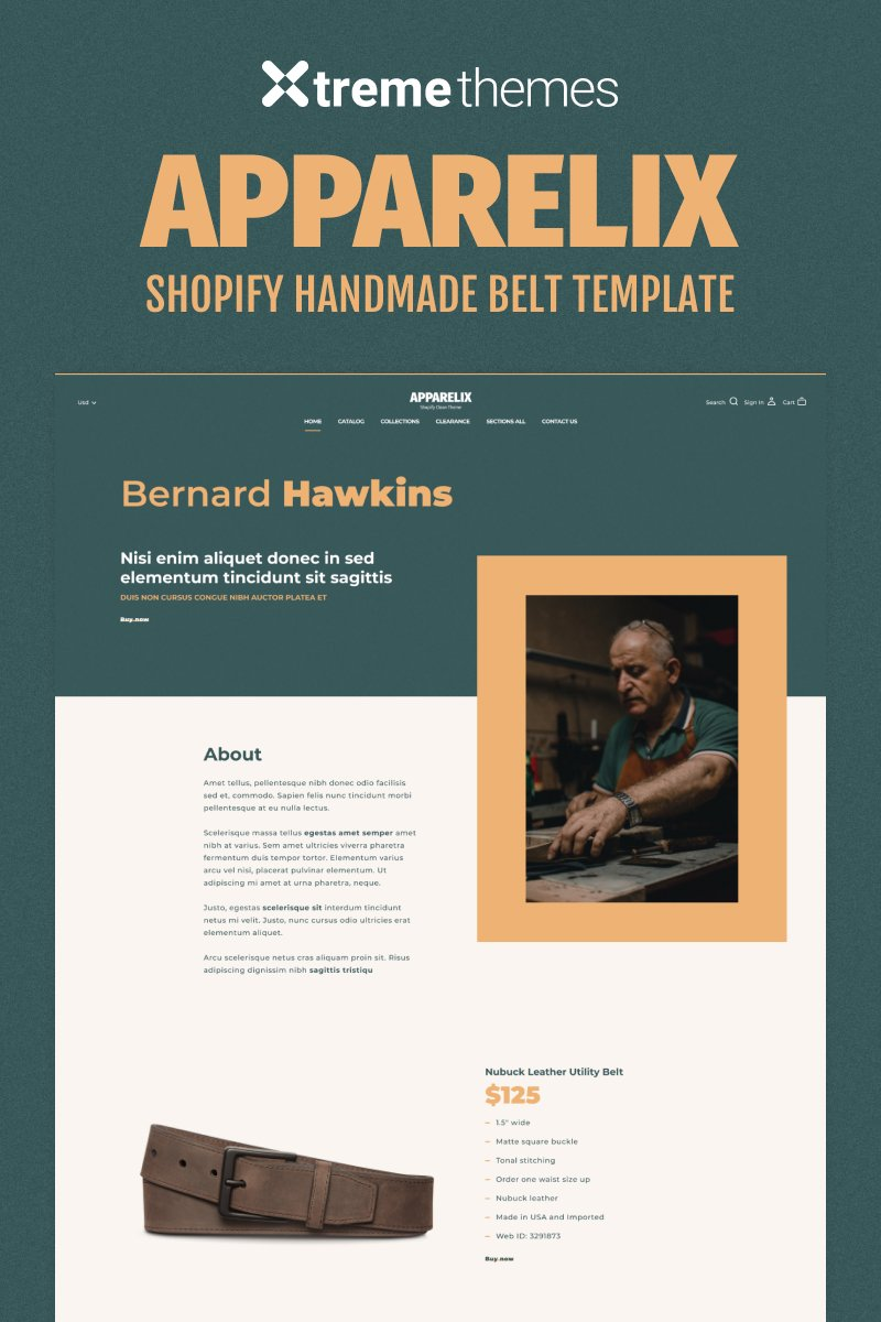 """""""One Product Shopify Store"""" Responsive Shopify Thema №94775"""