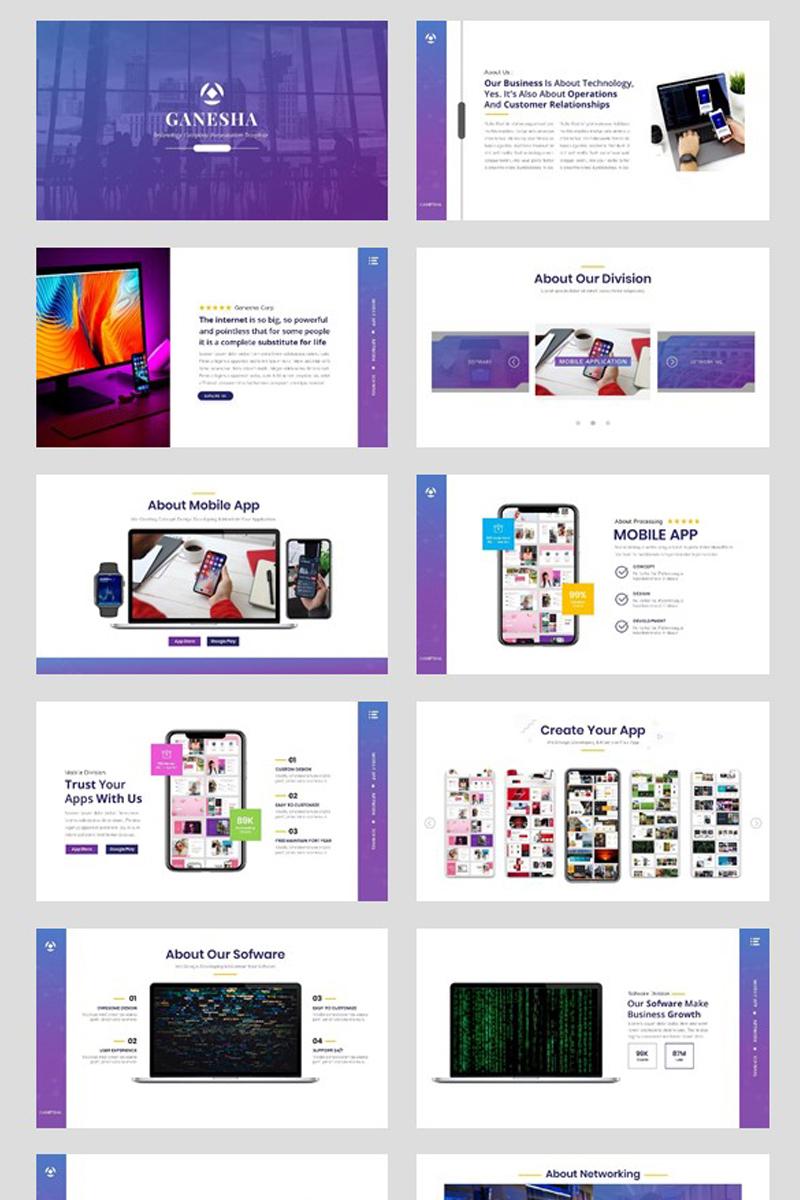 "Plantilla PowerPoint ""Business - Technology"" #94726"