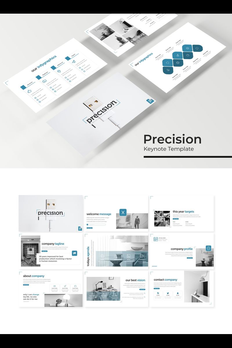 Precision Keynote Template #94737
