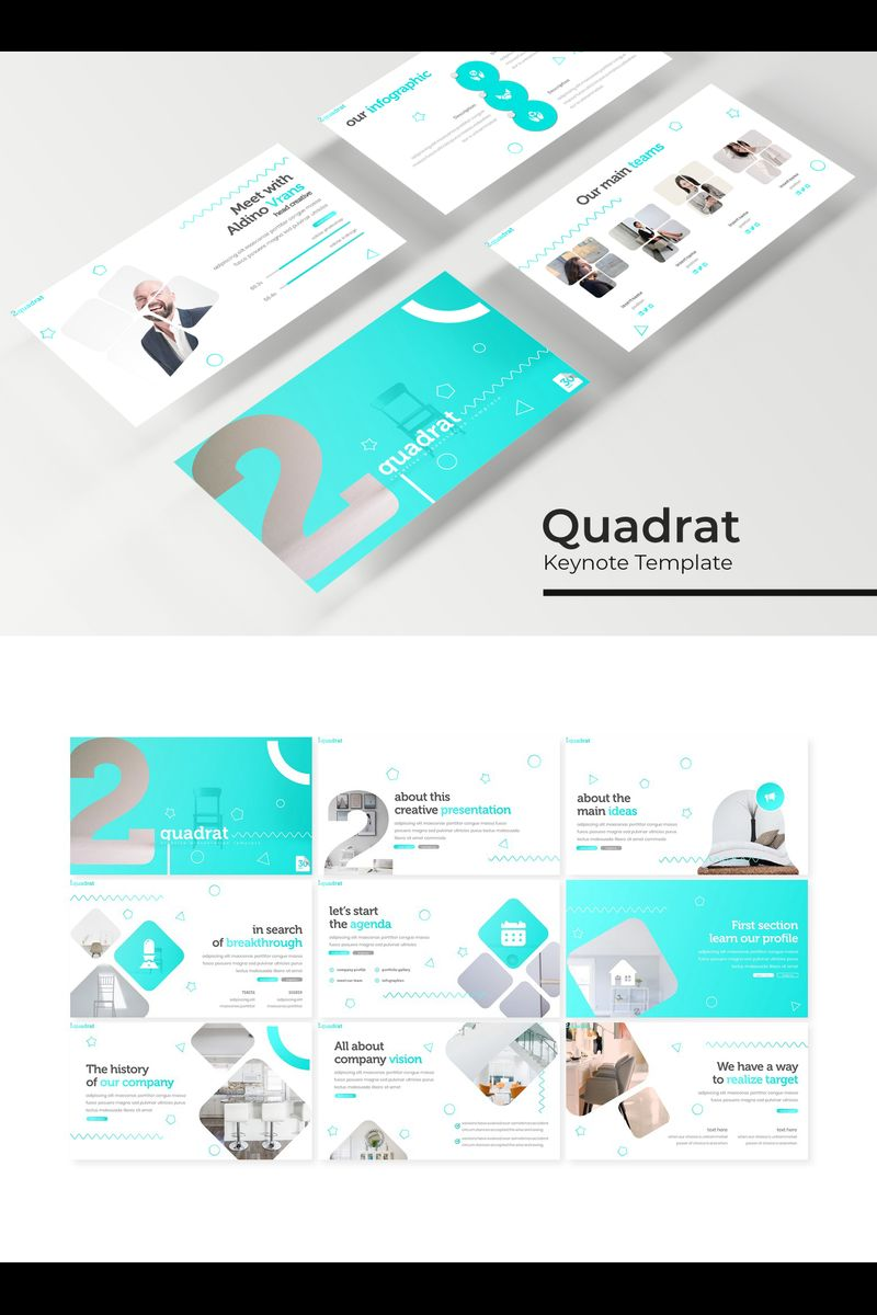 Quadrat Keynote Template #94736