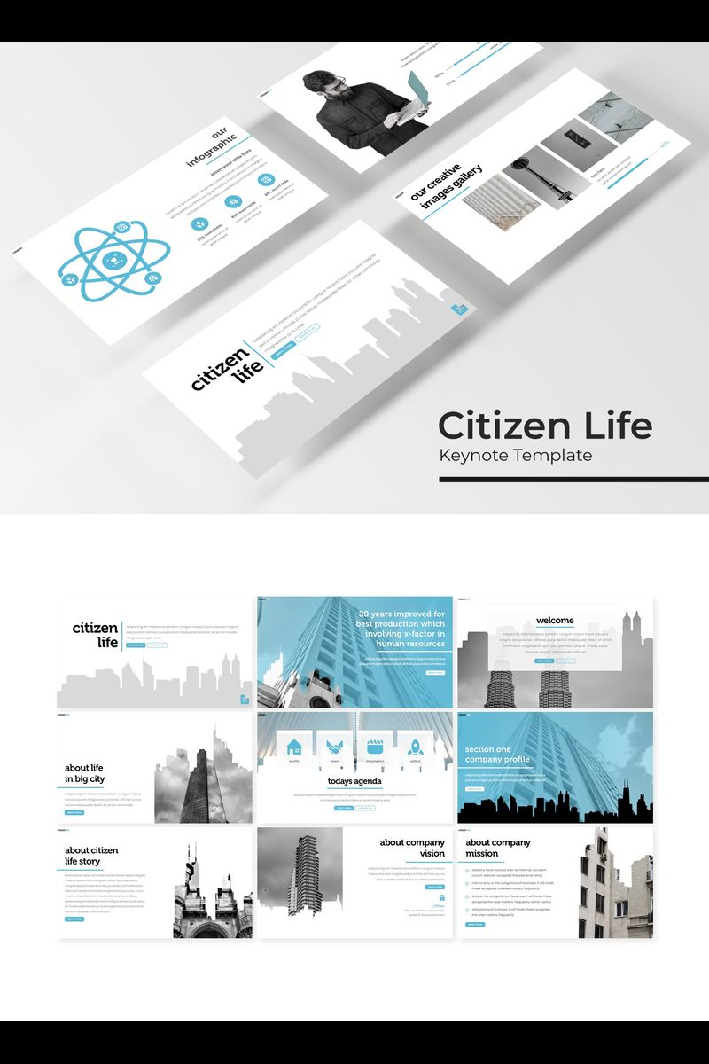 "Šablona pro Keynote ""Citizen Life"" #94744"