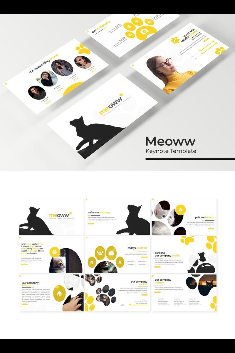 """Šablona pro Keynote """"Meoww"""" #94740"""