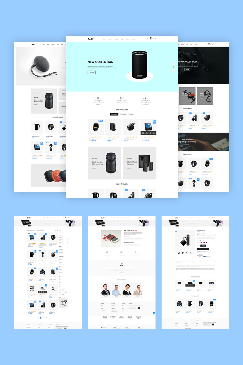 "Shopify Theme namens ""Gary - Electronics"" #94792"