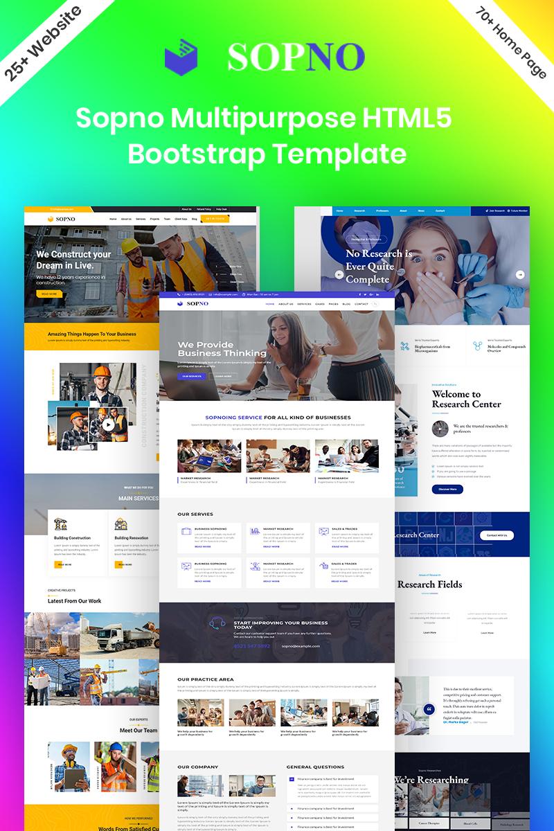 """Sopno Multipurpose HTML5 Bootstrap"" - адаптивний Шаблон сайту №94791"