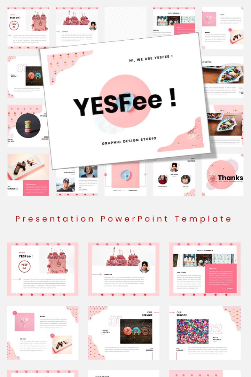 """Yesfee – Business Instagram"" modèle PowerPoint  #94754"