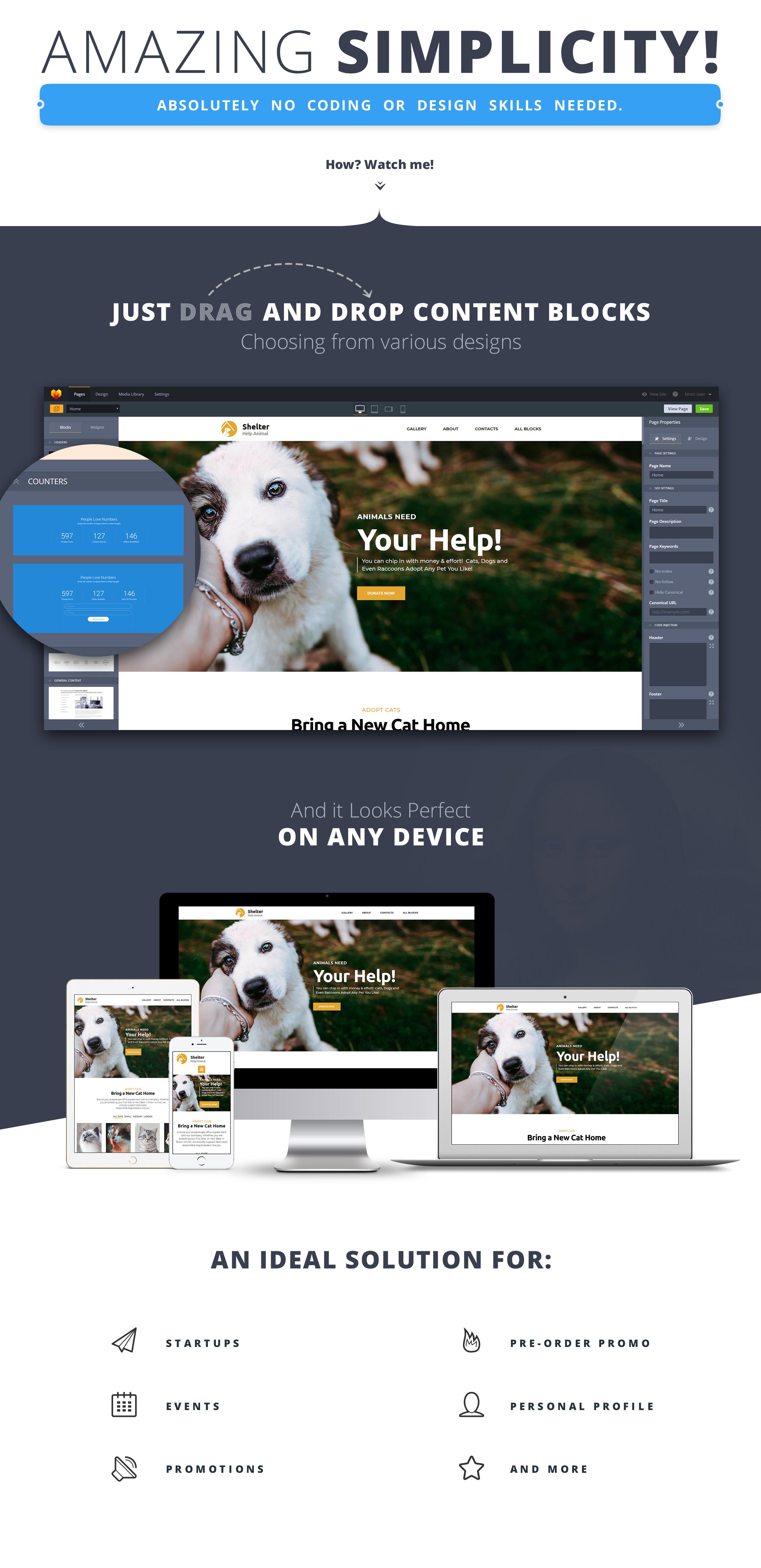 Shelter - Pet Adoption Landing Page Template