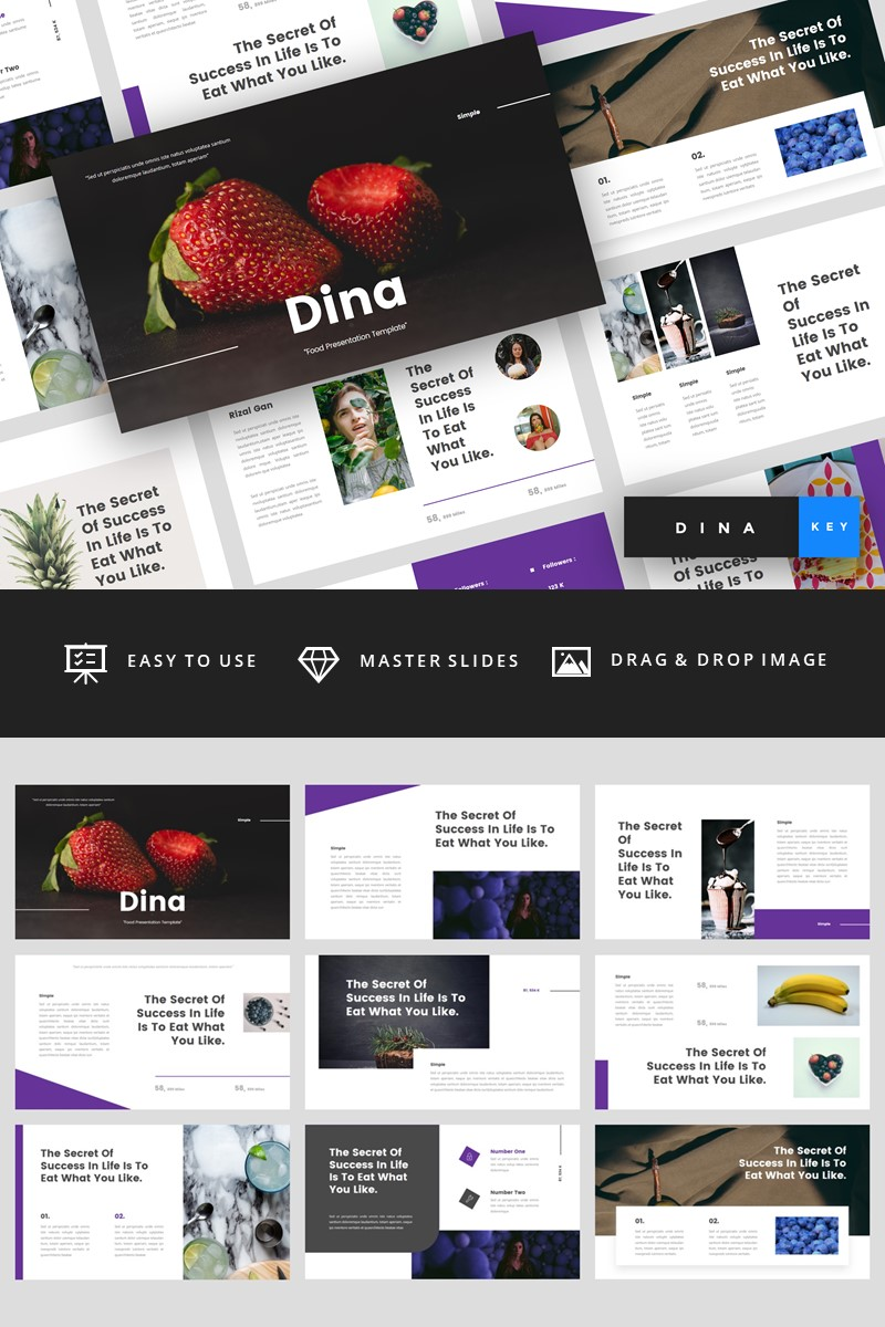 Dina - Food Keynote Template #94832