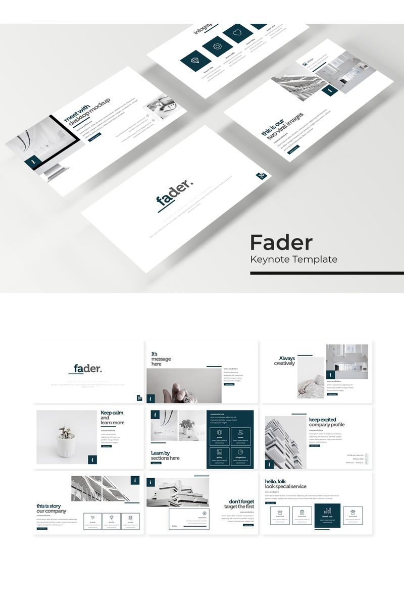 """Fader"" modèle Keynote  #94821"