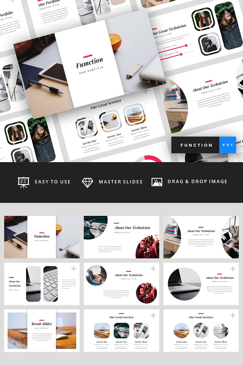 Function - IT Company Keynote Template #94829