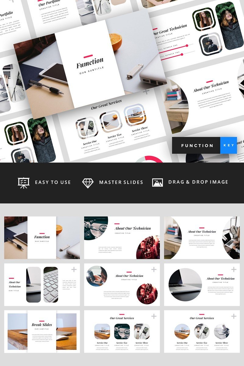"""""""Function - IT Company"""" Keynote Template №94829"""