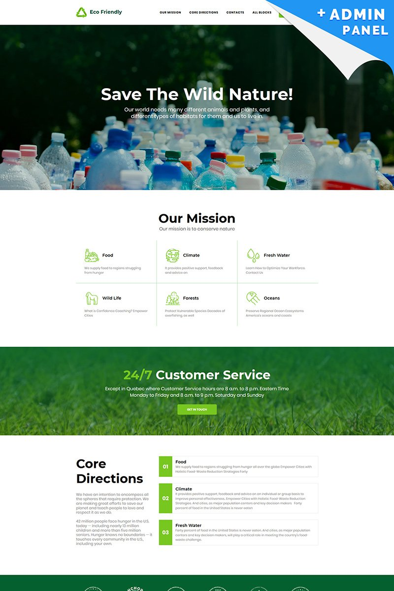 """Landing Page Template namens """"Eco Friendly - Recycle"""" #94867"""