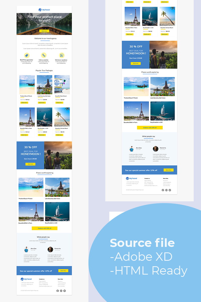 MyTravel - Responsive Newsletter Template - screenshot