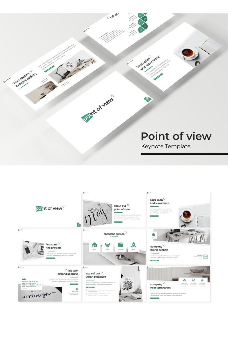 """""""Point of view"""" Keynote Template №94819"""