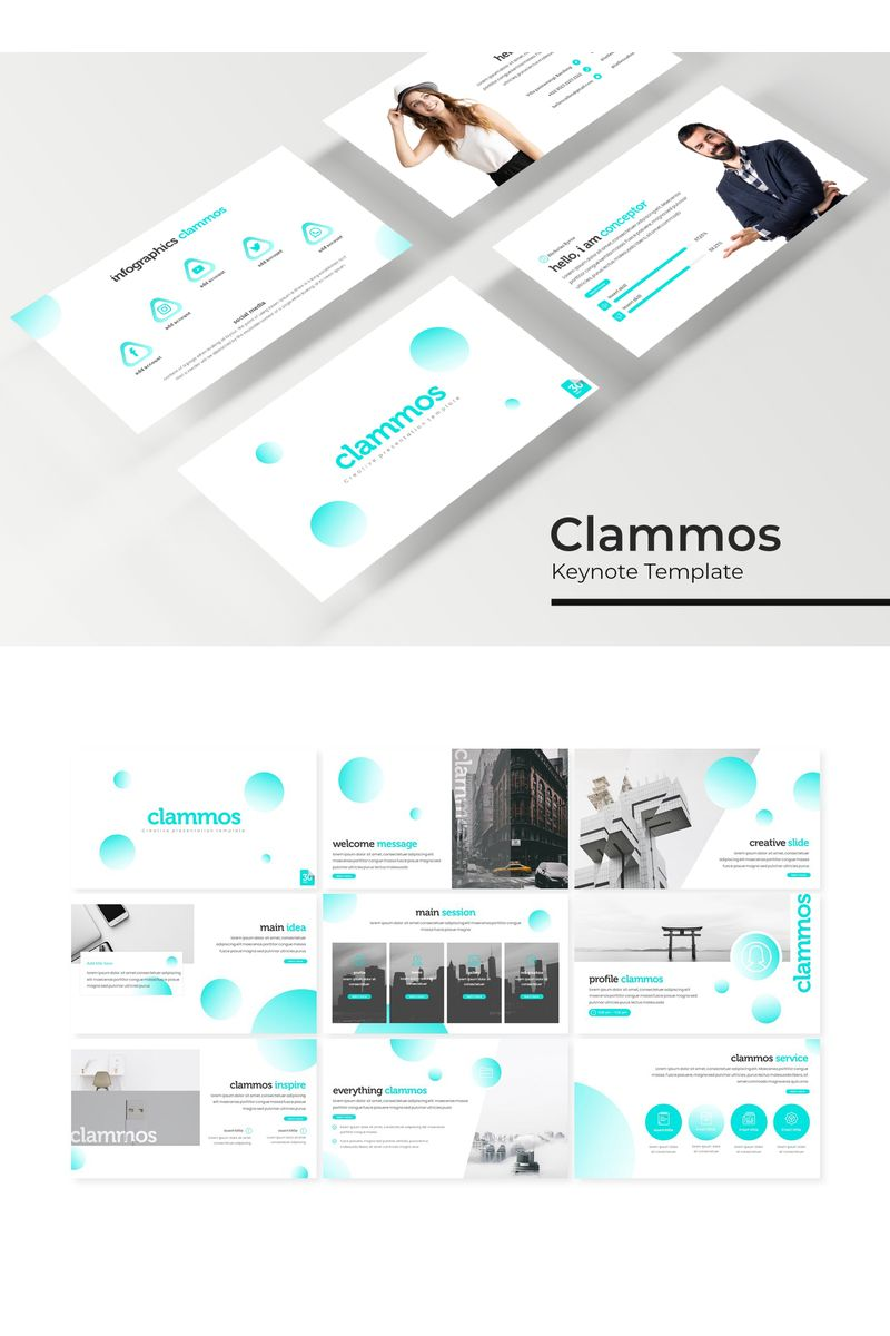 Szablon Keynote Clammos #94822