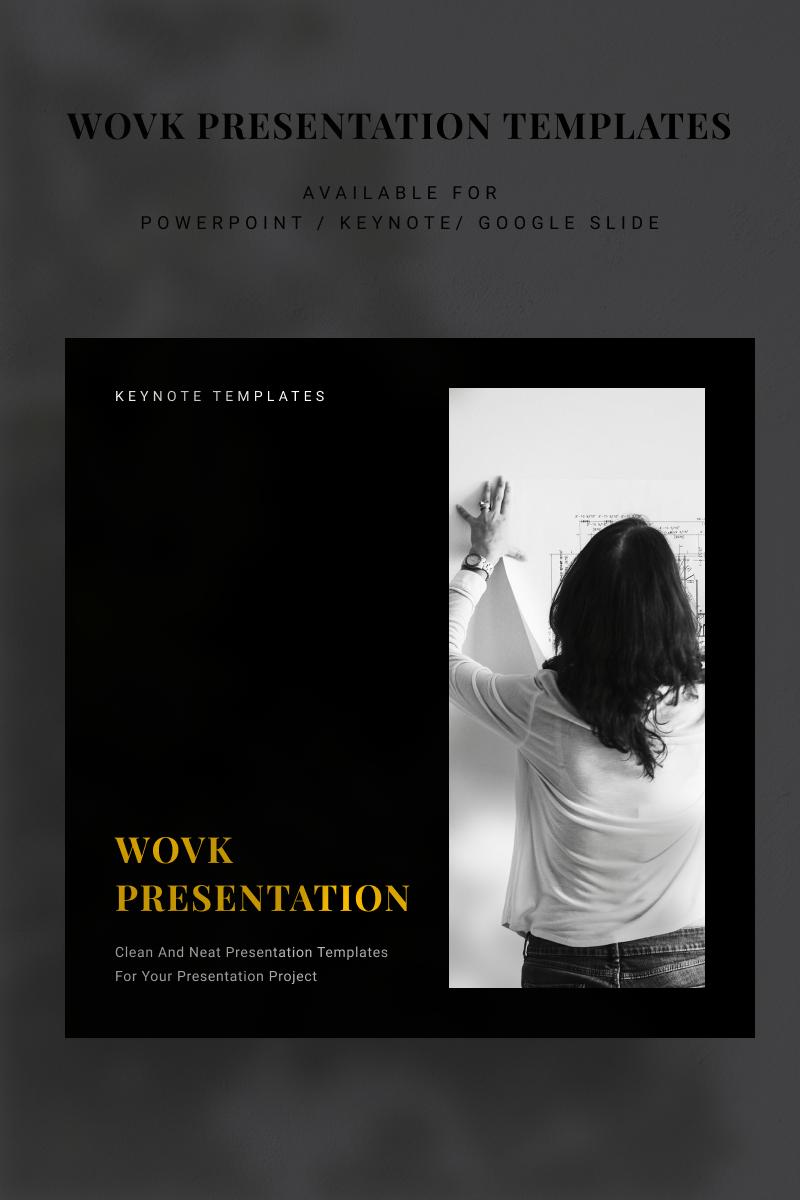 """""""WOVK"""" - Keynote шаблон №94898"""