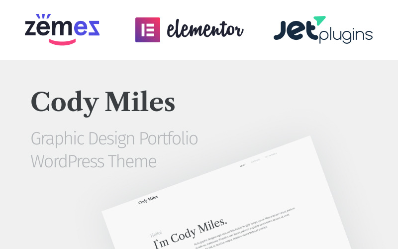 Codi Miles - Graphic Design Portfolio Websites to Grow Your Business WordPress Theme