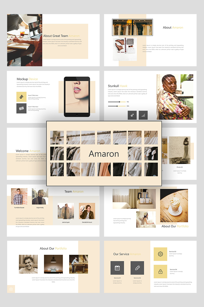 """Amaron Creative Business"" PowerPoint Template №94928"