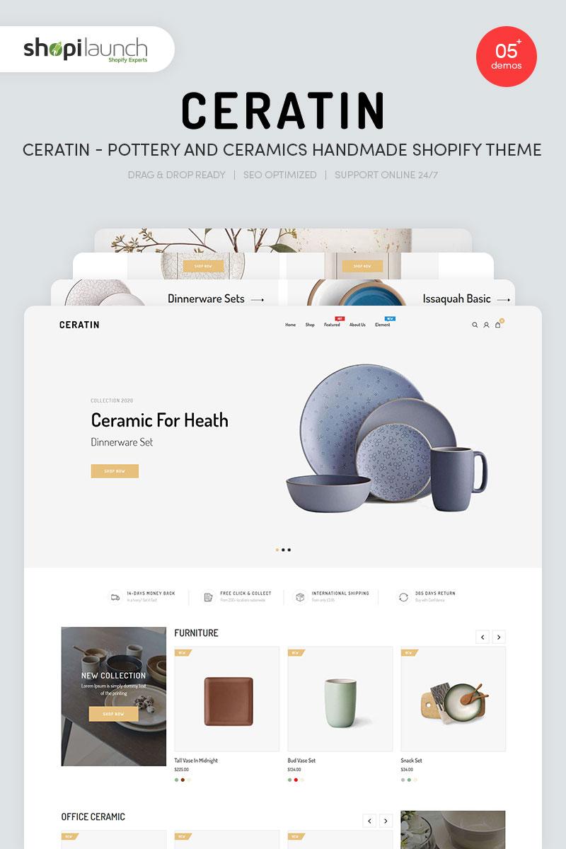 Ceratin - Pottery and Ceramics Handmade Shopify Theme - screenshot