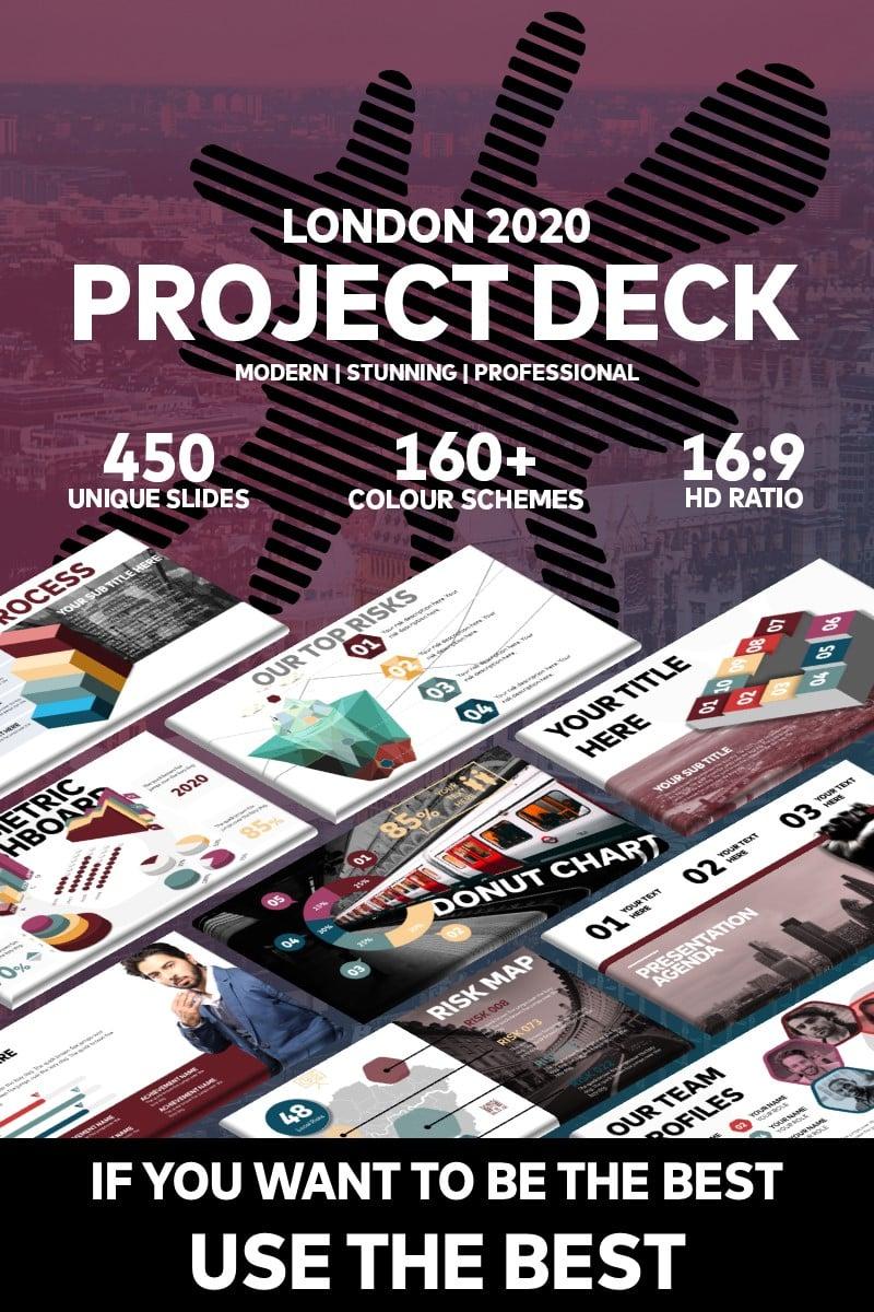 "Modello PowerPoint #94925 ""London 2020 Project"""