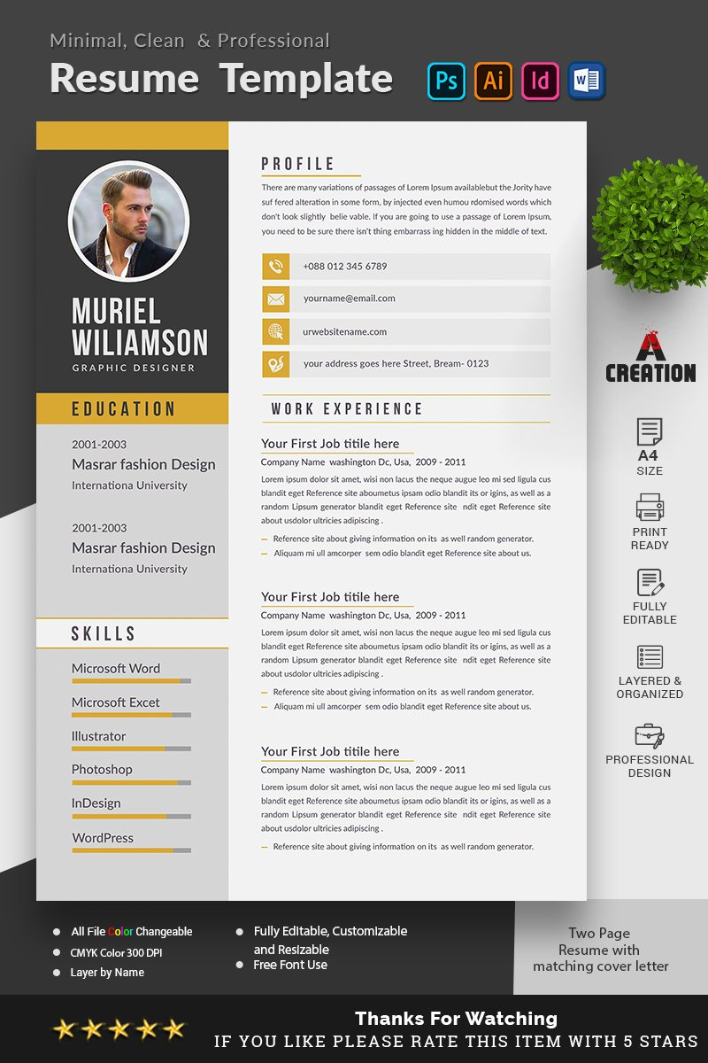 Muriel Williamson Resume Template