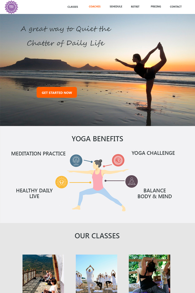 "PSD Vorlage namens ""Yoga Studio - Sport Simple Lading page Bootstrap"" #94974"