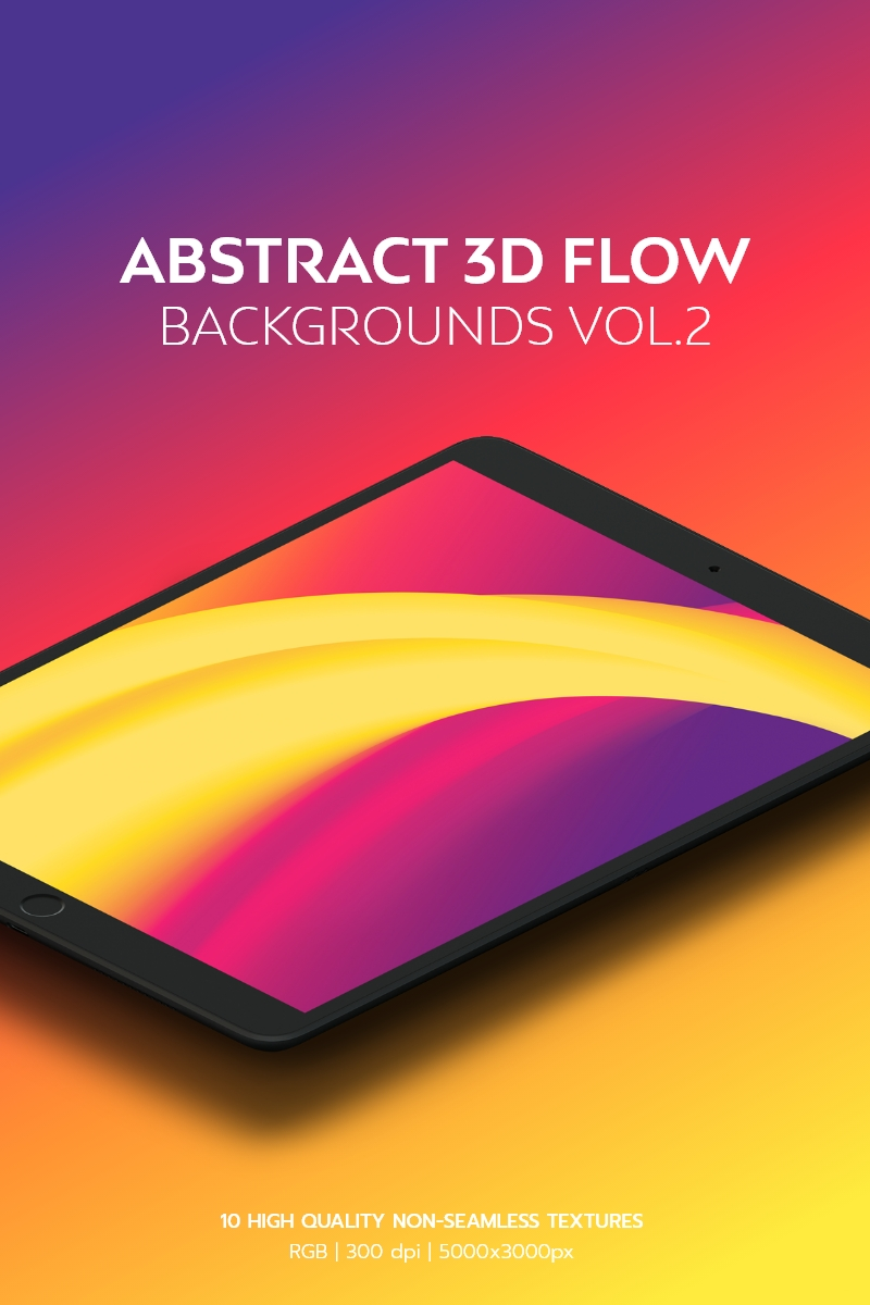Abstract 3D Flow Vol.2 Background №95096