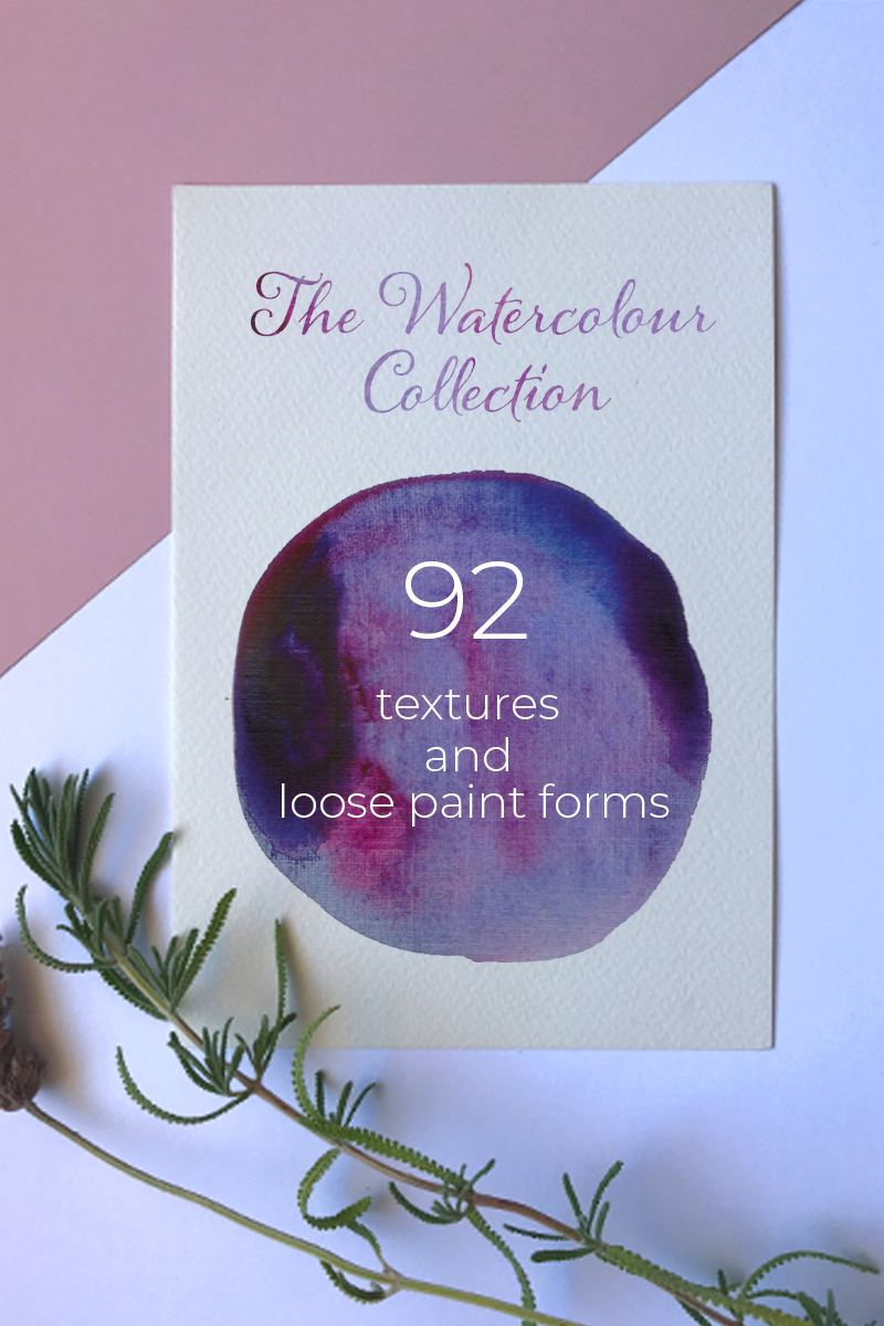 "Background namens ""92 Handmade Watercolor Texture and Loose paint forms"" #95095"