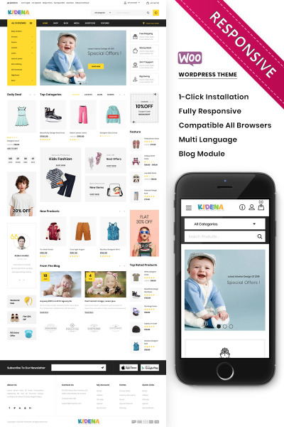 Kidena - The Kids Playstore Responsive