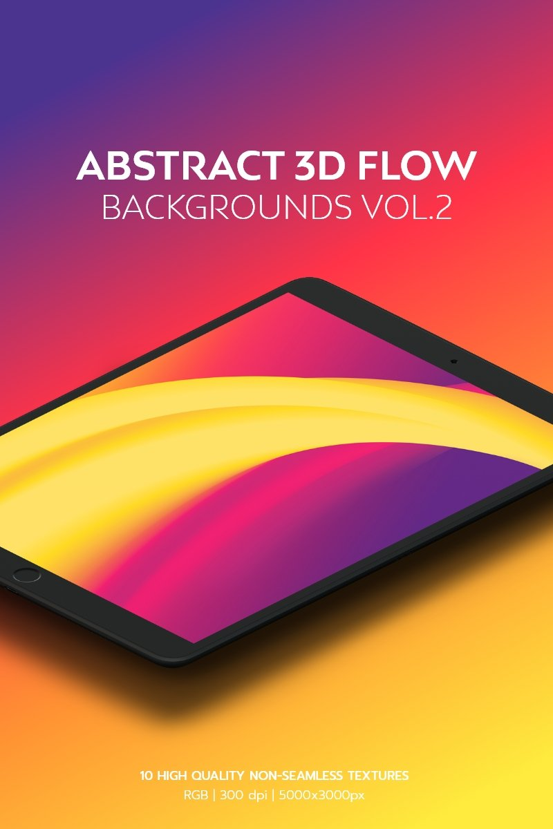 "Modello Background #95096 ""Abstract 3D Flow Vol.2"" - screenshot"