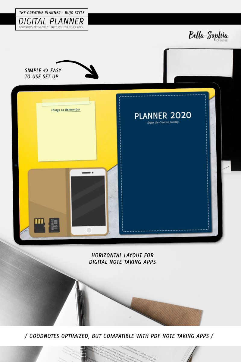 "Modello Planner #95045 ""Navy Note - Taking Digital"" - screenshot"