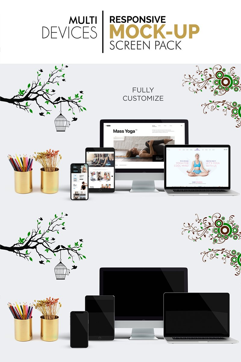 Multi Devices Responsive Screen Pack №95098