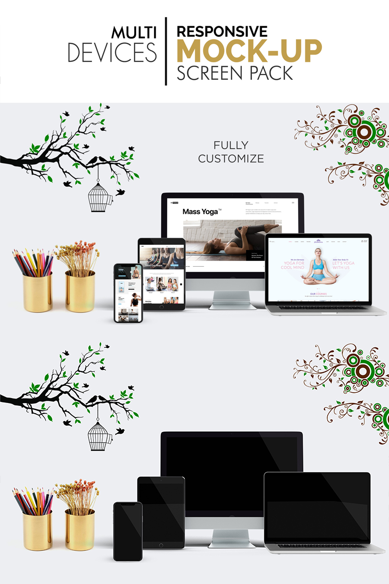 Responsive Multi Devices Responsive Screen Pack Ürün Örnekleri #95098