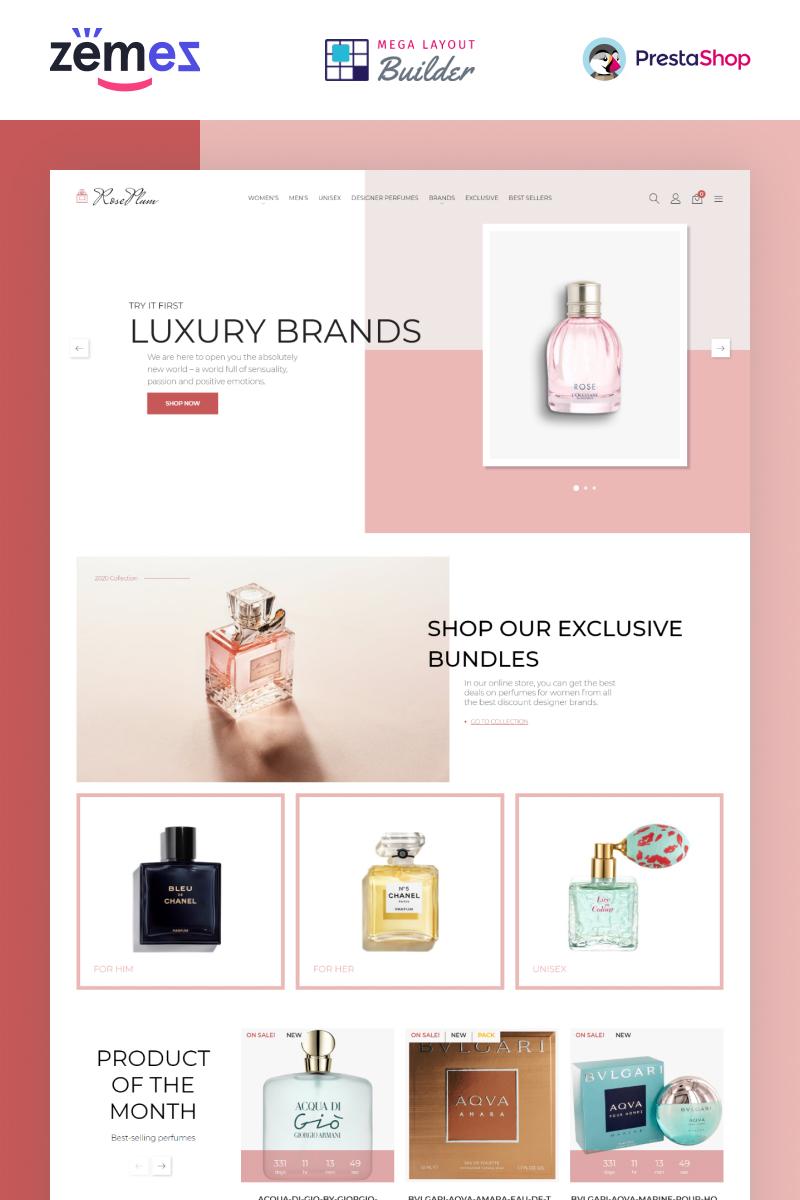 "Template PrestaShop Responsive #95092 ""RosePlum - Perfume Store Template"""