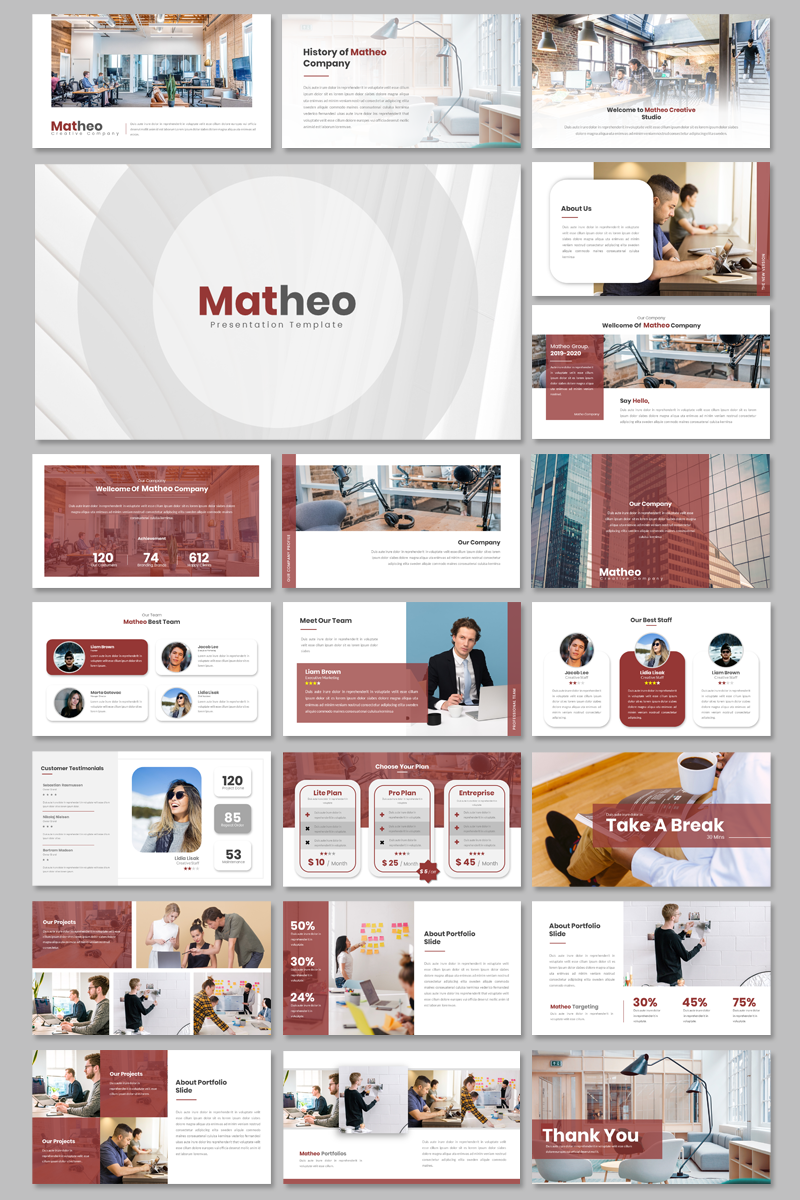 Matheo Creative - PowerPoint Template
