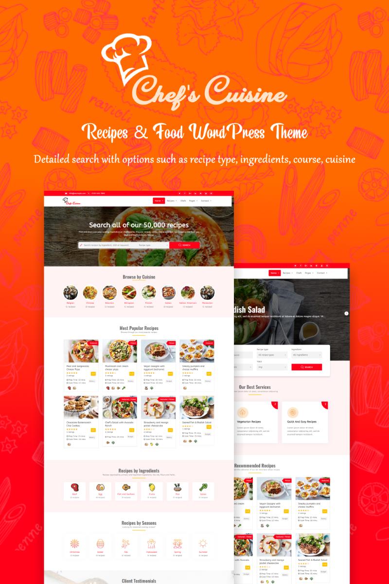 Chef's Cuisine - Responsive Recipe WordPress Theme