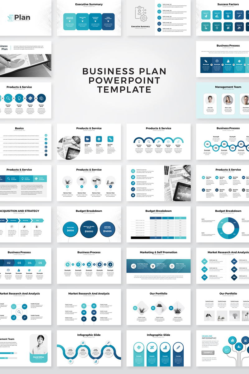 """Business Plan Presentation"" PowerPoint 模板 #95135"