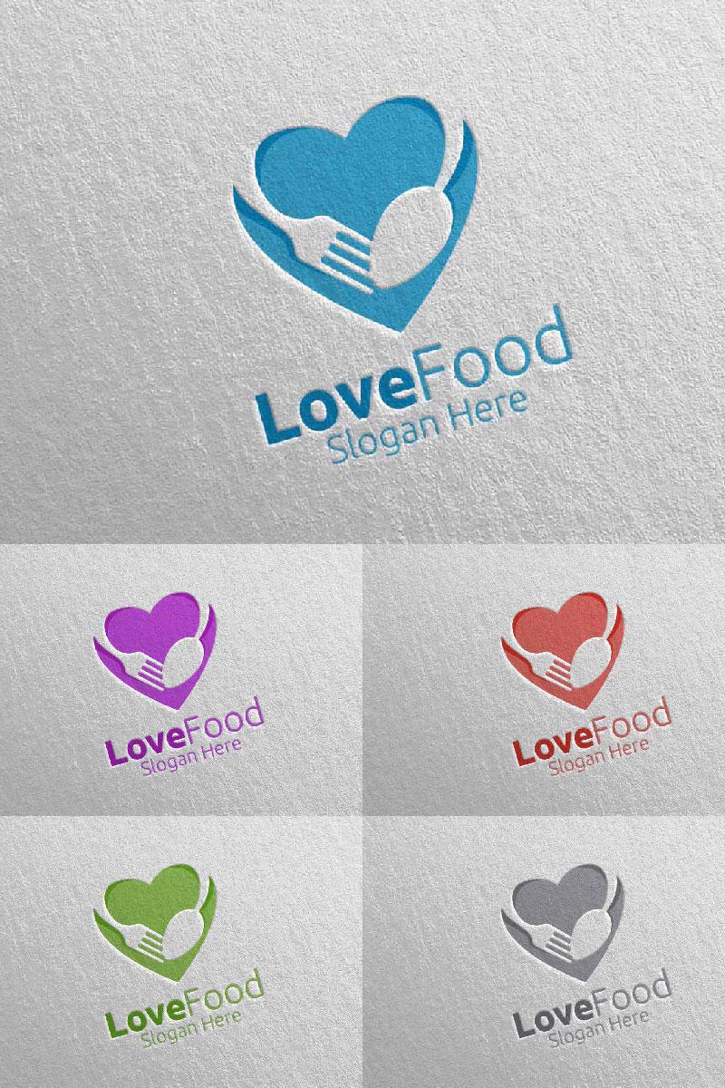 Love Healthy Food for Restaurant or Cafe 11 Logo #95188