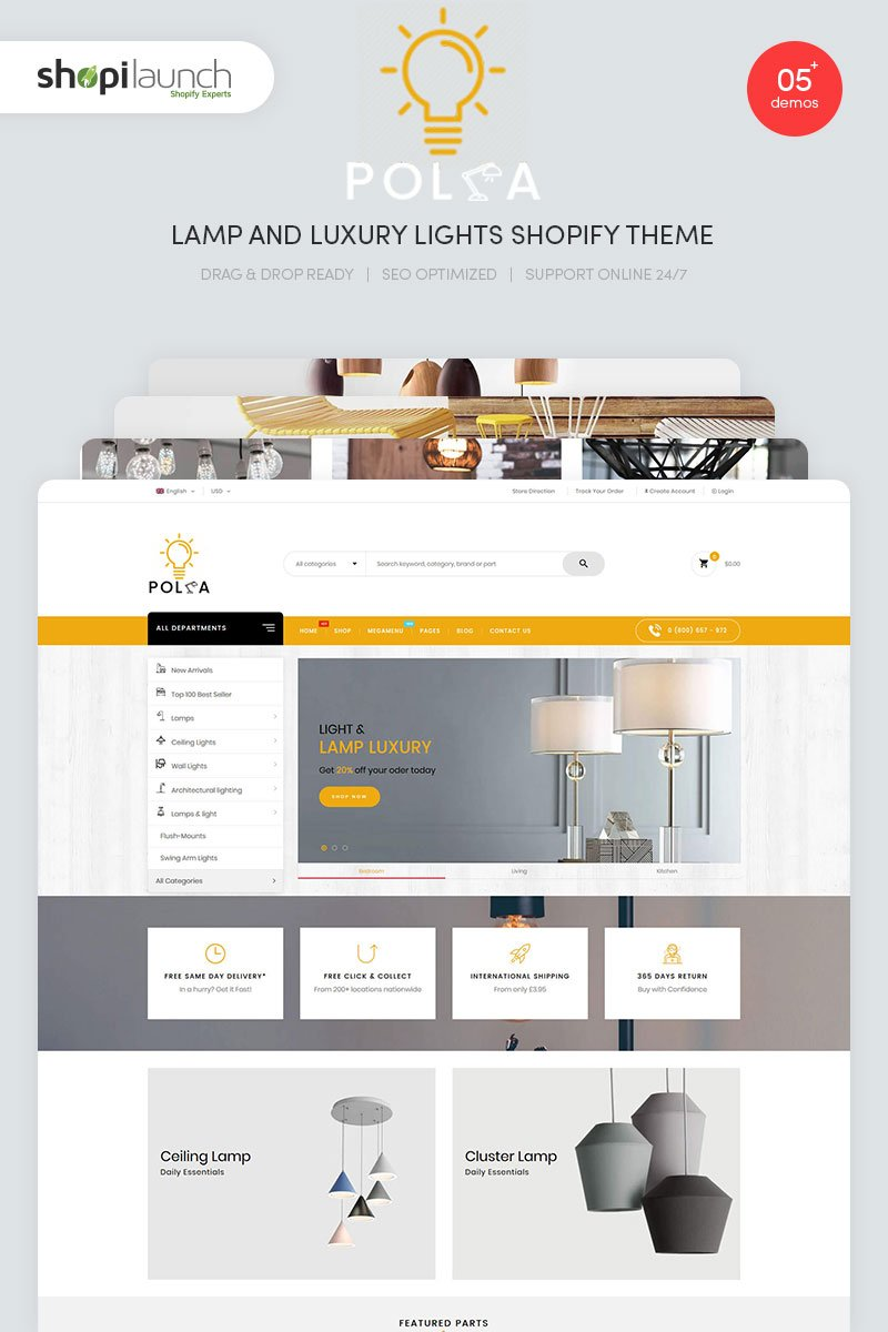 Polka - Lamp and Luxury Lights Responsive Shopify Theme