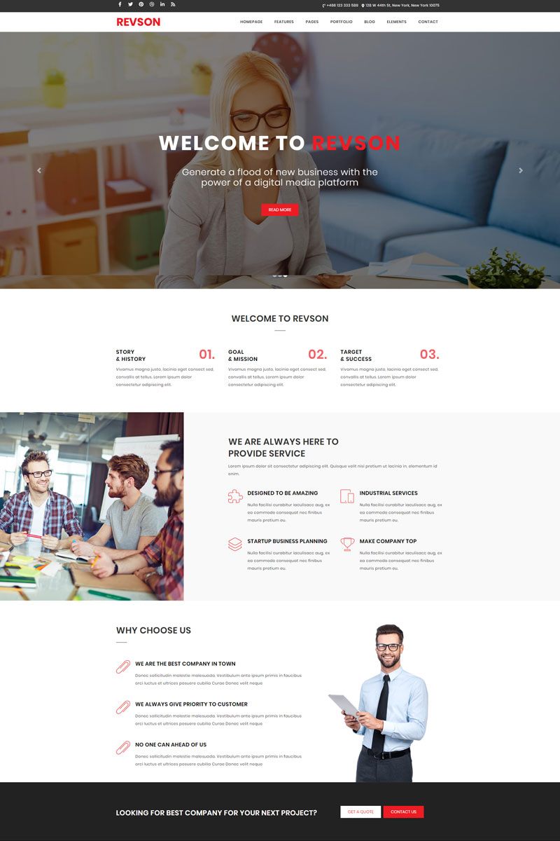 Revson - React.JS Gatsby Multipurpose Website Template - screenshot
