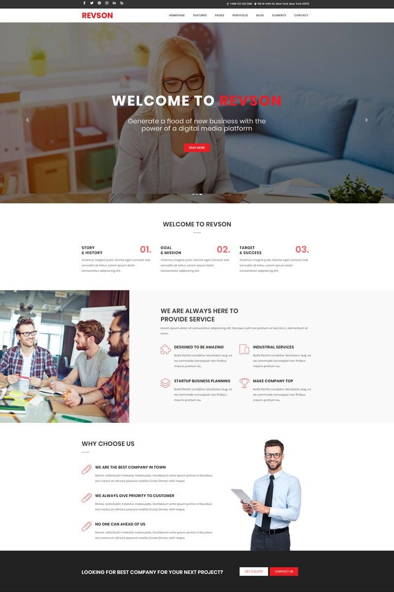 Revson - React.JS Gatsby Multipurpose Website Template
